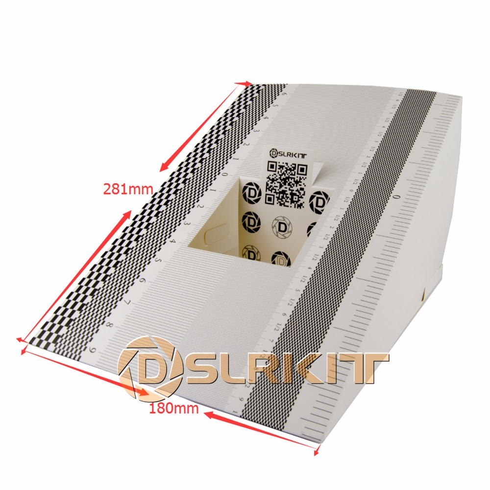 DSLRKIT 2PCS Lens Focus Calibration Alignment AF Micro Adjustment Ruler Folding Card Size:LDSLRKIT 2PCS Lens Focus Calibration Alignment AF Micro Adjustment Ruler Folding Card Size:L