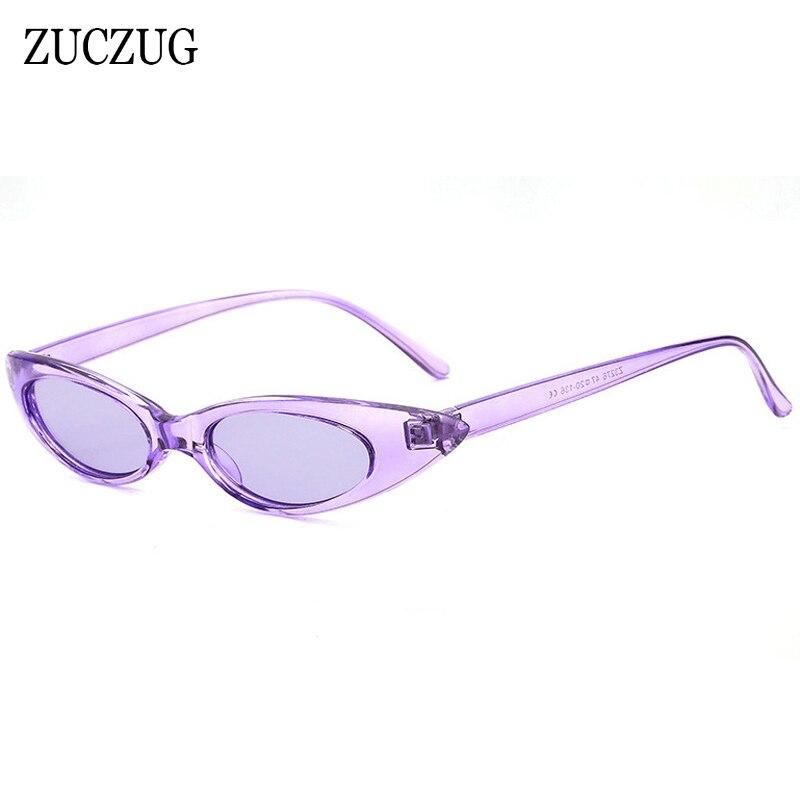 05e670b43 ZUCZUG Pequeno Oval óculos de Sol Olho de Gato Óculos de Sol Das Mulheres  Designer De Marca Sexy Cool Feminino Tamanho Pequeno Oval Frame Eyewear Dos  Homens ...