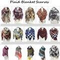 10pcs/lot scarfs fashionable Za Fashion Winter Women Cashmere Plaid Tartan Blanket Scarf Pashmina Scarves Shawl Wholesale A100