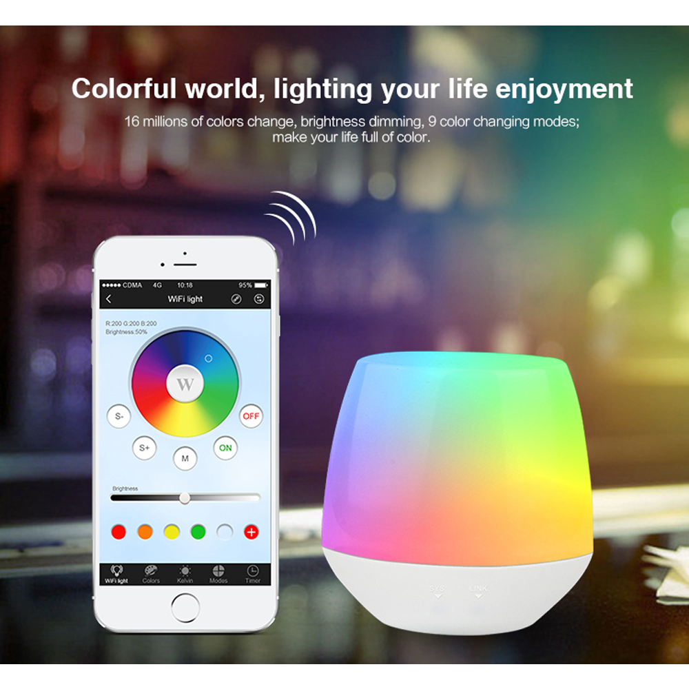 цена на Mi Light 2.4G Dimmable Wireless Wifi box APP iOS Android RF RGBW RGB CCT WW/CW Remote Controller for led strip light bulb lamp2
