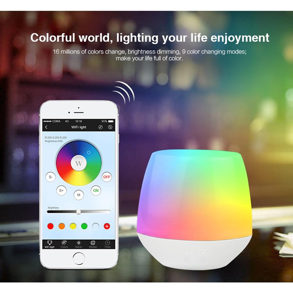 все цены на Mi Light 2.4G Dimmable Wireless Wifi box APP iOS Android RF RGBW RGB CCT WW/CW Remote Controller for led strip light bulb lamp2 онлайн