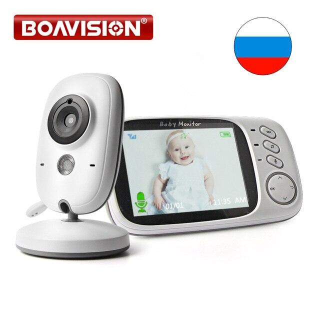 3.2 pouce LCD Vidéo Baby Monitor 2.4g Sans Fil 2 Façon Audio Bebe Cam Vision Nocturne de Surveillance Caméra de Sécurité Baby-Sitter VB603