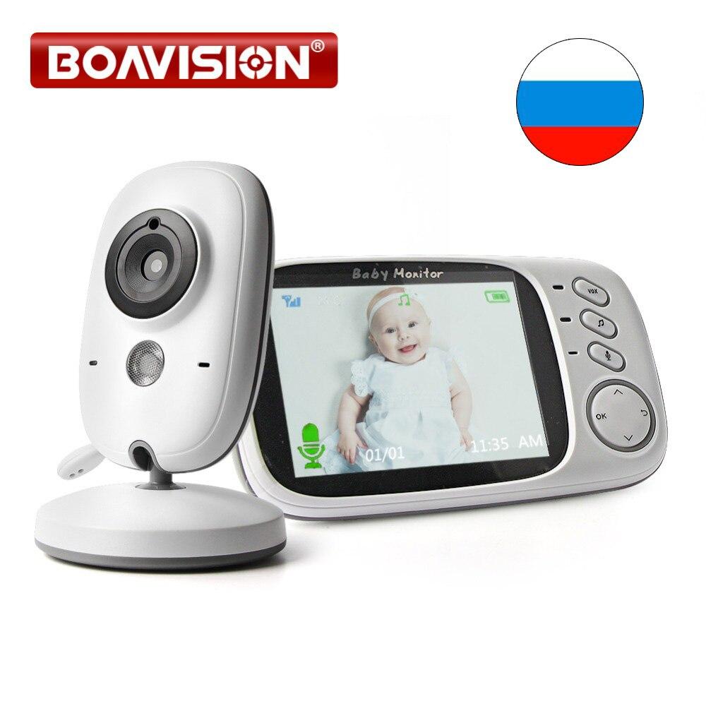 3,2 pulgadas LCD Video Monitor de bebé 2,4G 2 Audio Bebe cámara de vigilancia de la visión nocturna cámara de seguridad niñera VB603