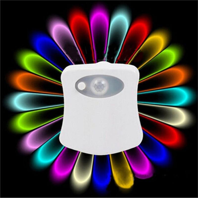 Hot Selling Toilet Night Light With 16 Color Changing Motion Sensor Night Lamp Bathroom Washroom Bowl LED Lamp For Bathroom