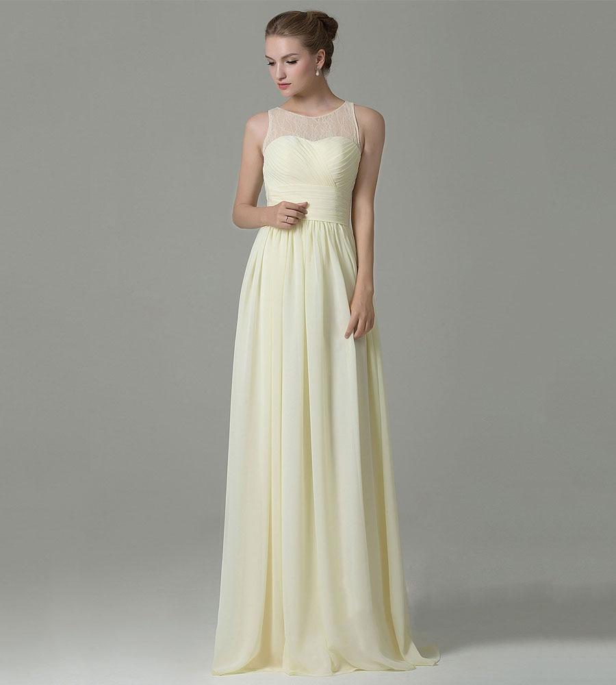 Light Yellow Bridesmaid Dress Promotion