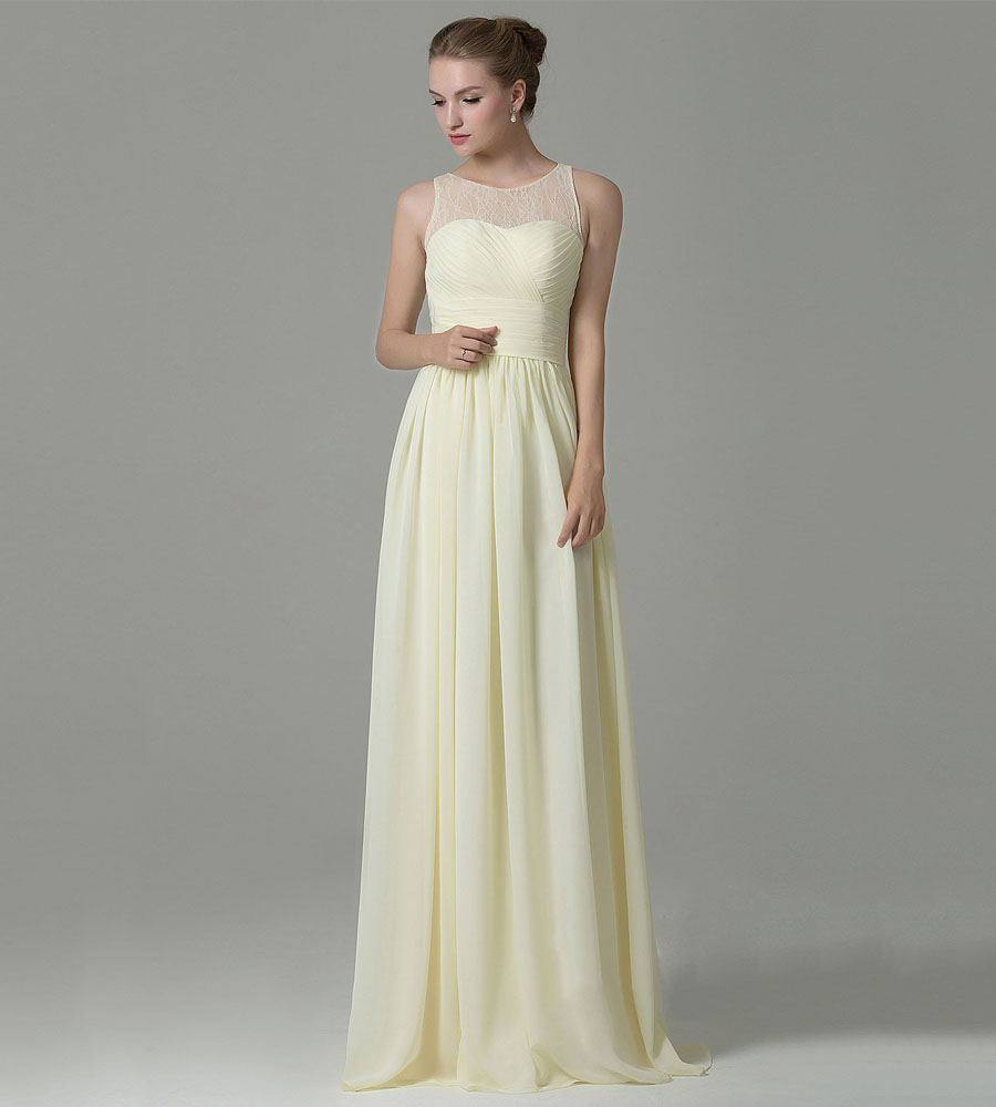 High quality bridesmaids dresses yellow buy cheap bridesmaids elegant 2016 light yellow lace bridesmaid dresses with pleated waist a line dress for women ombrellifo Choice Image