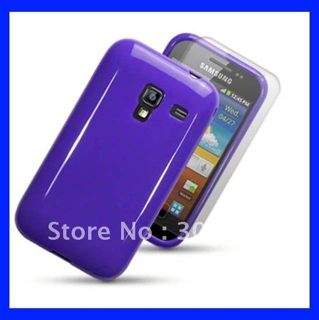 Solid Color Soft Gel TPU Case For SAMSUNG GALAXY ACE PLUS S7500, Free Shipping 60pcs