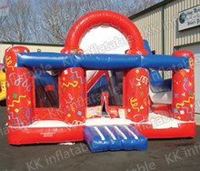 inflatable red bouncer castle funny for babies jump