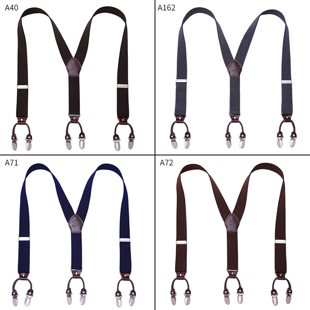 Adjustable Length Leather Elastic Tuxedo Y Shaped Back Suspenders Pant Braces Bow Tie Set For Men And Women Trousers Pants Jeans