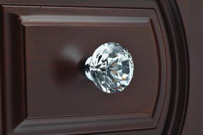 Unilrocks 10 шт./лот, декоративная фурнитура K9, Алмазный кристалл, хромированные дверные ручки для шкафа R6021, новинка(диаметр: 30 мм