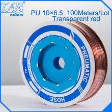 100m/piece High Quality Pneumatic Hose PU Tube OD 10MM ID 6.5MM Plastic Flexible Pipe PU10*6.5 Polyurethane Tubing golden