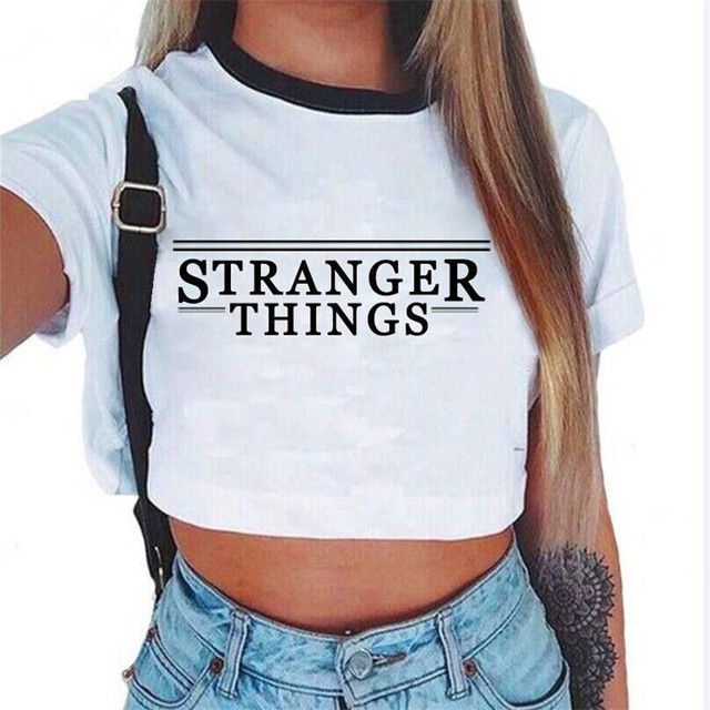 79ca73f0856b37 Women Sweet Crop Top Holes T Shirt Hip Hop Letter Print Casual O Neck Tees  Ladies Fashion White Cute Streetwear Tops Camisetas