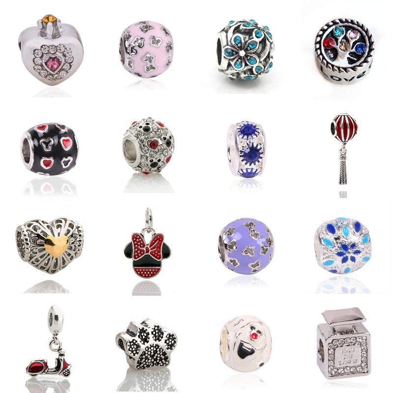 New Free Shipping 1pc Silver Color Bead European Colorful