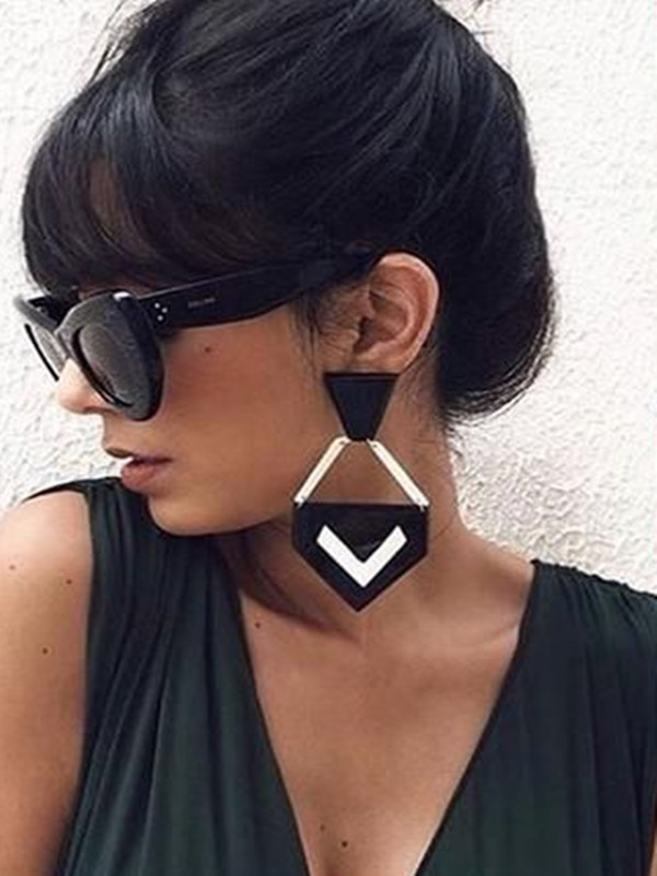 Punk ακρυλικό μεγάλο σκουλαρίκια γυναίκες κόκκινο αίγλη χείλη πτώση σκουλαρίκια γυαλιά Grandes 2018 νέα κοσμήματα κορίτσι υπερβολικό ύφος λυκίσκου