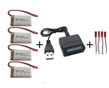 MJX T64 T04 T05 F28 F29 RC Helicopter 3.7v 1200mah Li-polymer battery*4pcs+ charger case free shipping