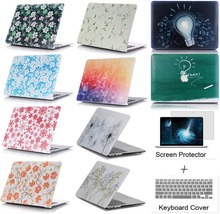 3in1 Print Pattern Design Case Laptop cover Protector For Apple macbook Air Pro with Retina 11 12 13 15 inch + screen film gift