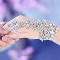 Pulsera de Cadena de Accesorios Del Vestido de Boda de novia Bridemaid Nupcial Rhinestone Joyería Pelo de la Manera Accesorios Pulseras de Mano