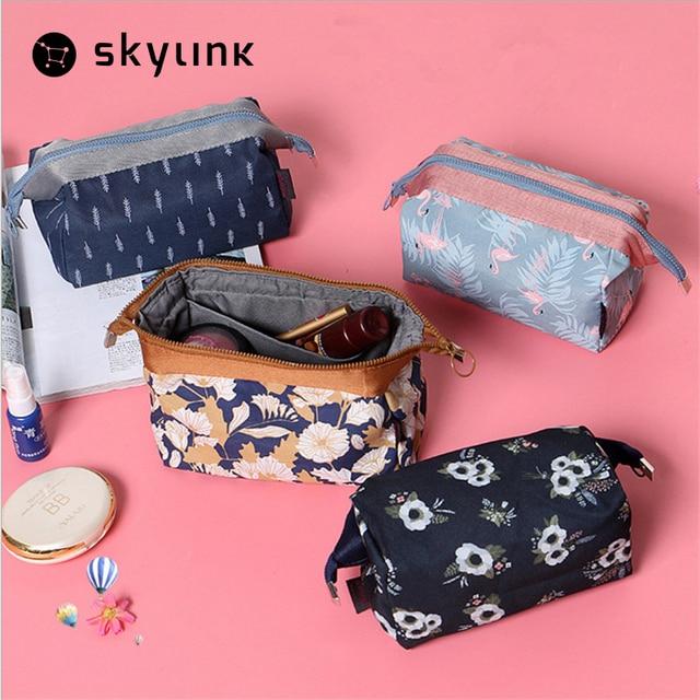 Young Fashion Travel Makeup Storage Bag Small Handbag Waterproof Bags Cartoon Flower Case Toiletry