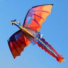 New 140cx120cm Dragon Kite Single Line Flying Kite with Tail 100m Handled Flying Line Flying Kite Toys For Kids Adults Outdoor kite flying tool kite line dual line stunt kite flying string 100kg x 20m x 2 for kiteboarding kitesurfing trainer kite