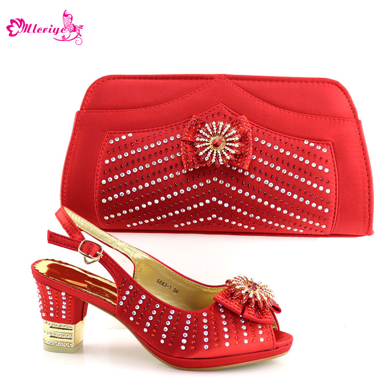 5683-1 Ladies Italian Shoes and Bag Set Decorated with Rhinestone Shoe and Bag Set for Party In Women Shoes and Bag Set кроссовки asicstiger asicstiger as009aujhk94