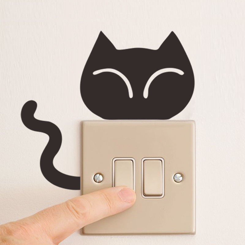 DIY Funny Cute Black Cat Dog Rat Mouse Animls Switch Decal Wall Stickers DIY Funny Cute Black Cat Dog Rat Mouse Animls Switch Decal Wall Stickers HTB1JlvWHVXXXXb8XFXXq6xXFXXXU