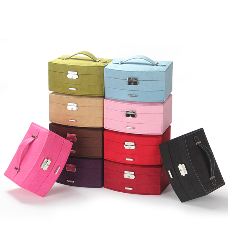 New Design Box Storage for Jewelry Girls,Portable Ring Earrings Organizer Boxes,caixas organizadoras,Necklace Rings Case Storage