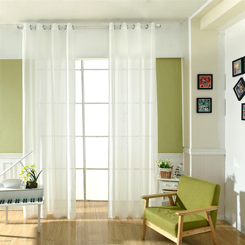 High Window Curtains: Aliexpress.com : Buy 1PC High Quality Solid Kitchen Voile