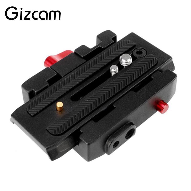 Gizcam Camera Tripod Monopod P200 QR Aluminium Alloy Clamp Adapter+Quick Release Plate for Manfrotto 501 500AH 701HDV 503HDV Q5