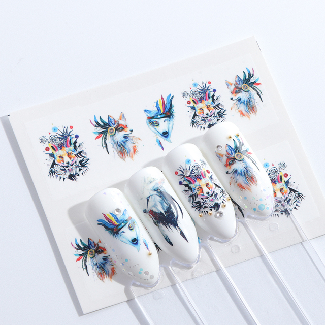 1 Sheets Summer 2018 Beauty Slider Nail Water Sticker Flower Bloom Colorful Image Nail Art Decals for Decor Tool TRSTZ608-637