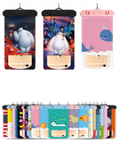 Aokali Mobile Phone Waterproof Bag Floating Air Touch Screen Thickened Cartoon High Sealed Transparent Cover
