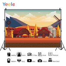 Yeele Cartoon Farm Party Rural Stage Professional Photography Backdrops Portrait Photographic Backgrounds For The Photos Studio