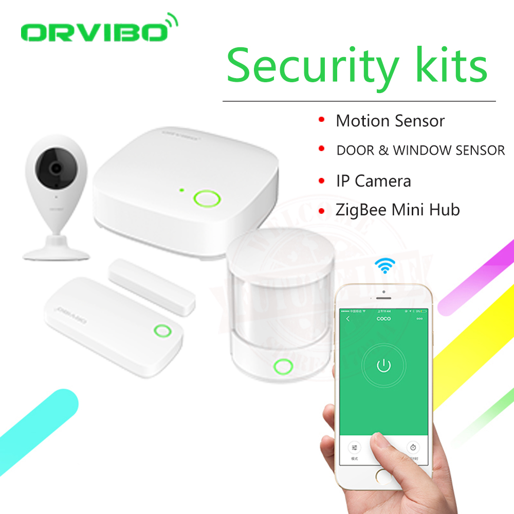 2018 Orvibo ZigBee Smart Home Security Kit Controller Hub Smart Remote Control, Zigbee Motion Sensor Door & Window Sensor