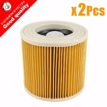 цена на 2Pcs/lot replacement air dust filters bags for Karcher Vacuum Cleaners parts Cartridge HEPA Filter WD2250 WD3200 MV2 MV3 WD2 WD3