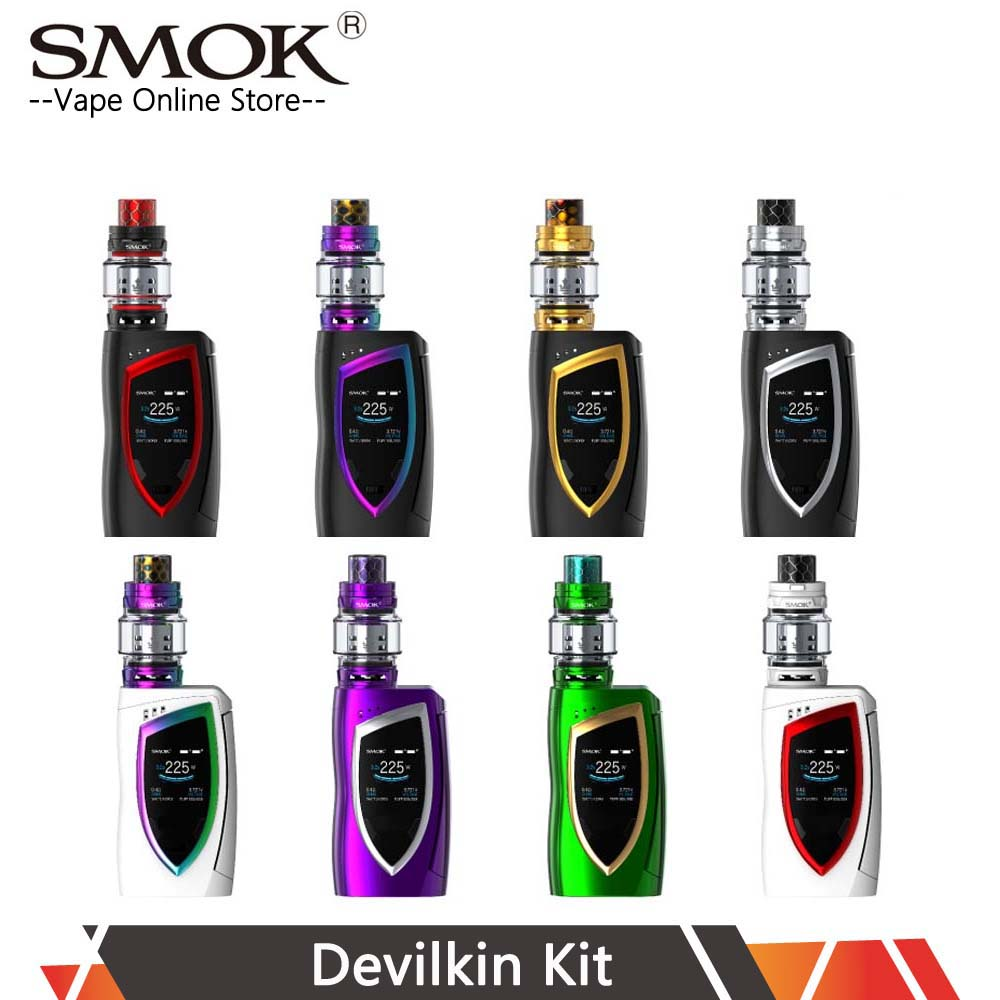 SMOK Devilkin Kit 225W Mod With 8ml TFV12 Prince Tank V12 Prince Q4 T10 Coil Electronic Cigarettes Kit VS SMOK Mag X-Priv Kit недорго, оригинальная цена