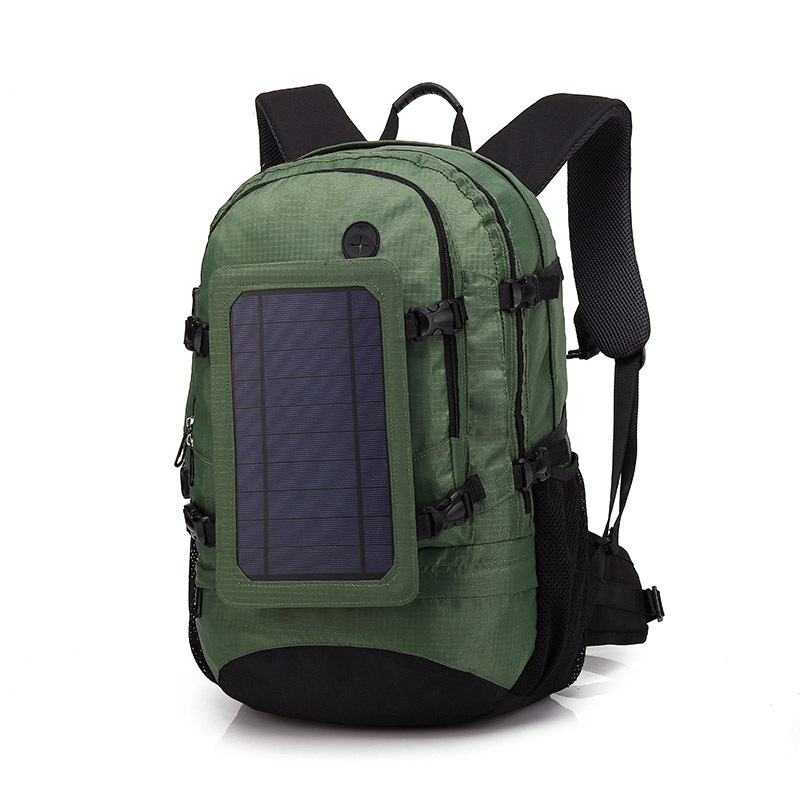 New Travel Backpack 6.5W 5V Solar Panel Backpack Multifunctional Travel Business Double Shoulder Bag USB Mobile Charger Backpack mesh panel iridescence backpack