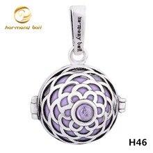 H46 moda púrpura circón colgante boleadoras mexicanas 18 mm redondo de plata de la jaula y 16 mm bola de la armonía de sonar Chime colgante para embarazada