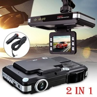 Car Recorder Radar Detector 2in1 GPS Speed Radar Automatically Save the Video Car Dash Cam Alert Speed Limit and Distance