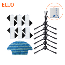 цена Replacement Filter Side Brush Mopping cloth Kit for ILIFE A6 A4 A4s Robot Vacuum Cleaner
