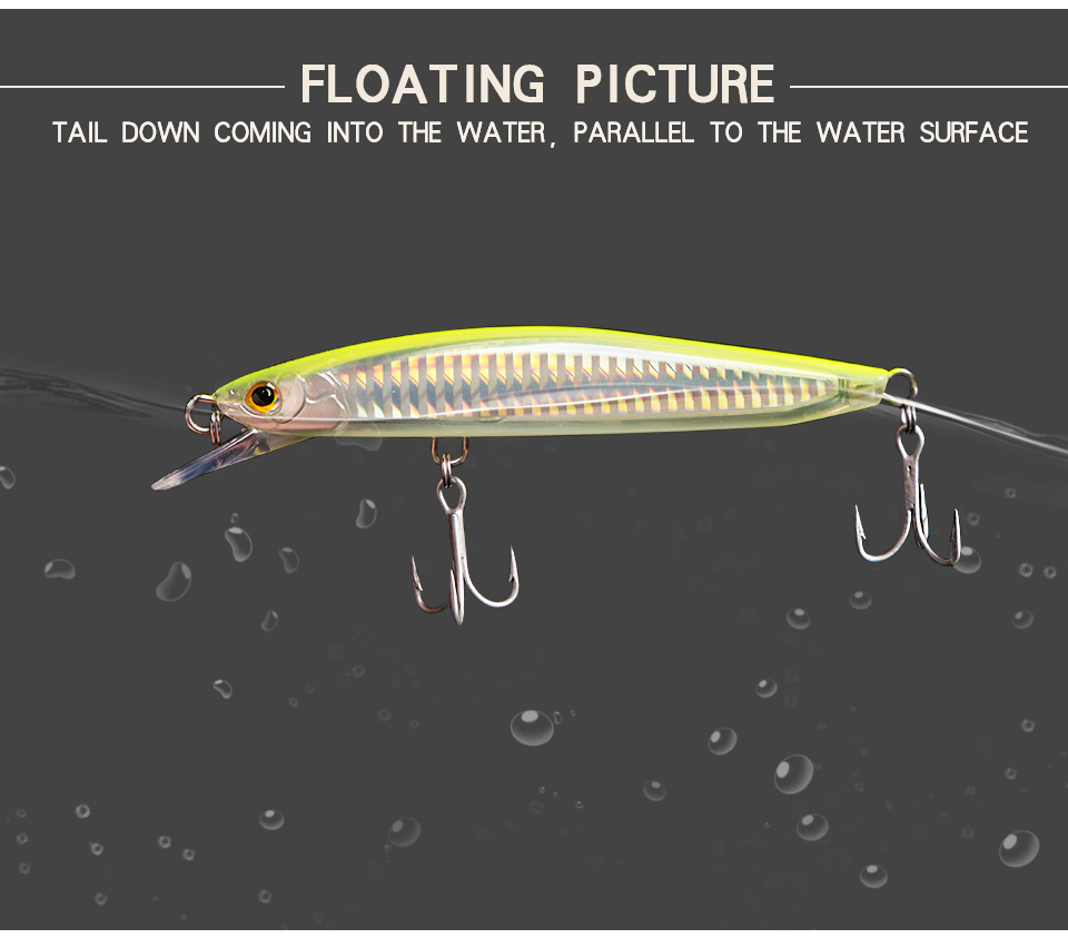 Kingdom Fishing Lures Saltwater 120mm23g,130mm30g Floating Artificial Bait Minnow Wobblers Hard Lure Model 7502 (4)