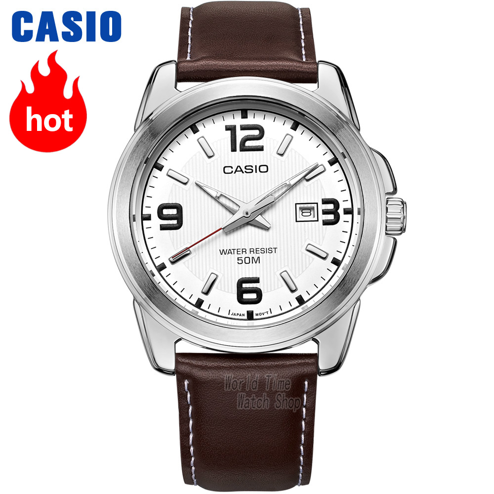 Casio montre Analogique Hommes de quartz montre confortable et pratique lumineux pointeur montre MTP-1314