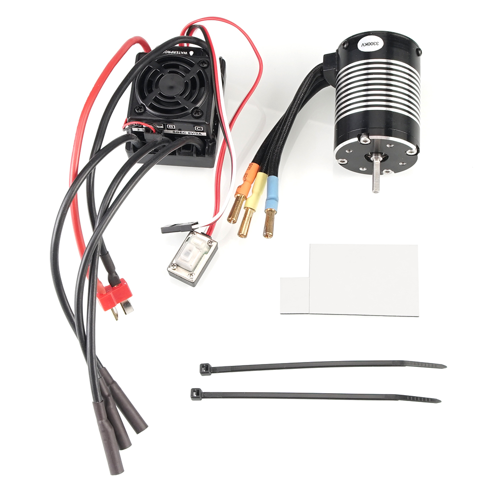 Image 4 - WLtoys 12428 Upgrade parts 3300KV brushless motor 60A ESC servo power set components Third channel switch Metal differential-in Parts & Accessories from Toys & Hobbies
