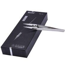 KAISI Precision Ceramic Tweezers Pinzas Penseta Fingerprint Jump Line Clip 0.01mm Fly Line Tweezer Electronic Repair Tools