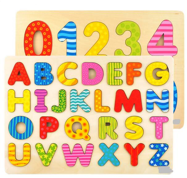 Candice guo! educational wooden toy baby gift alphabet