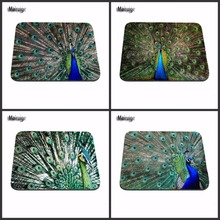 Customization Beautiful High Quality Peacock Plume Animal Rubber Anti-slip Mouse Pads For Pc Compute