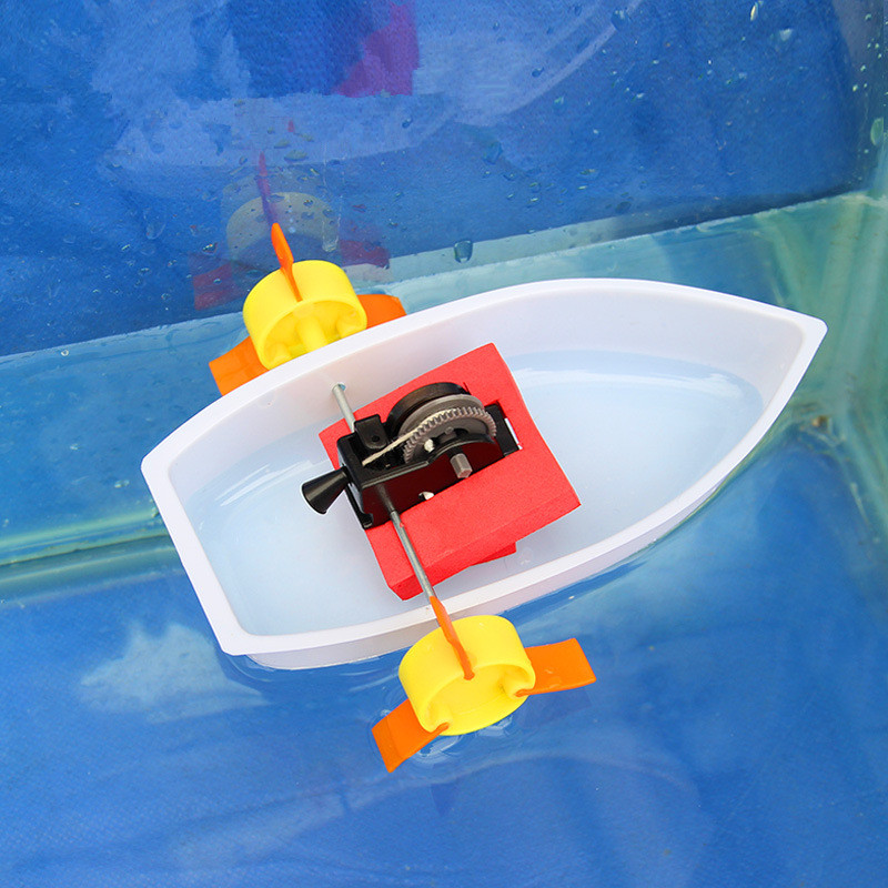 Science Experiments Toys Handmade Paddle Wheel Ferry Wheel Boat Ship DIY Material Discovery Toys Best Gifts For Kids Children