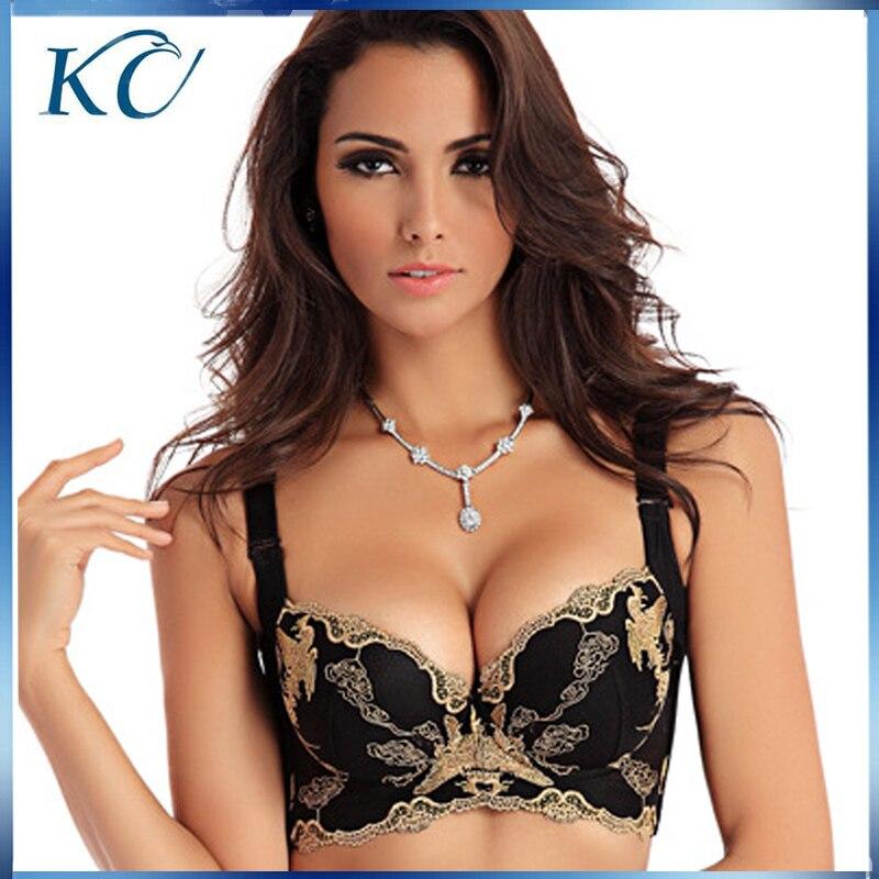 5pcs/lot New Europe Fashion sexy lace women bra deep V ...