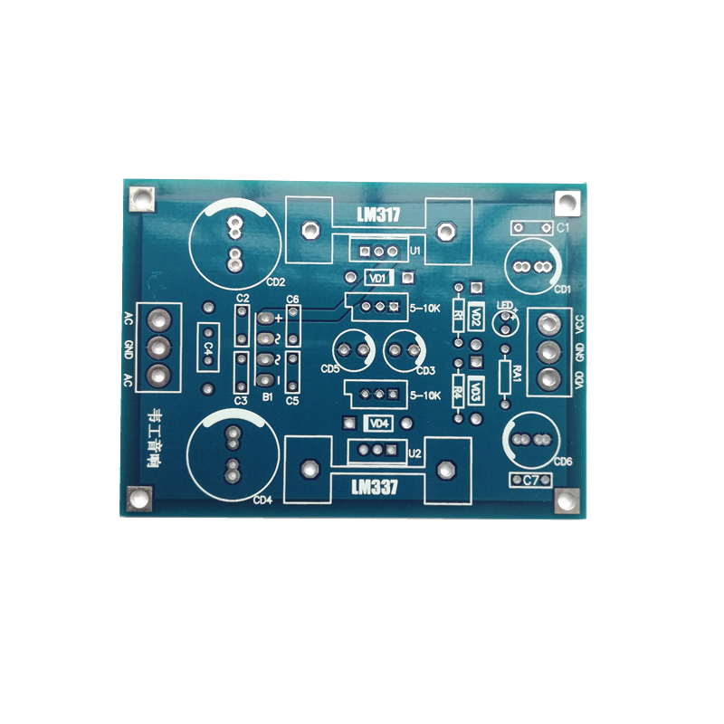 LM317 LM337 Adjustable Filter Regulated Power Supply Printed Circuit Board Continuously Adjustable Voltage Output  Only PCB