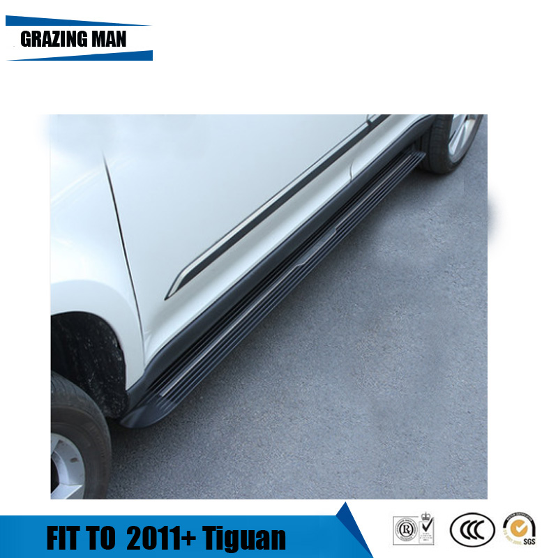 aluminium Automatic scaling Electric pedal side step running board for Tiguan 2011+