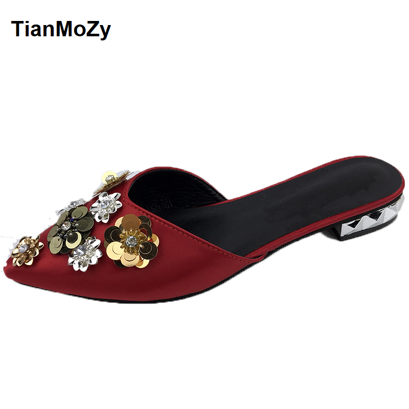Women S Flat Pointed Diamond Shoes