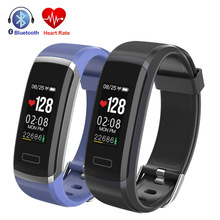 Купить с кэшбэком  Color Screen Smart Bracelet GT101 Waterproof Heart Rate Monitor Fitness Tracker Bluetooth Smart Watch Wristbands  Band 2 Sport